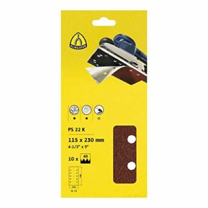 KLINGSPOR polissage bandes auto-agrippant emballage blister PS 22 K – 115 x 230 mm-grain 80-lot de 5 241665