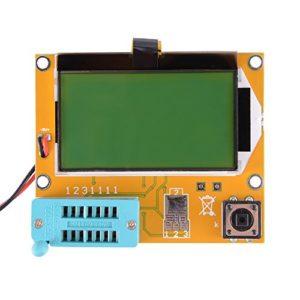 LCR-T4 Multifunción Mega328 Transistor Tester Diodo Triode Capacitancia SCR Inductancia ESR Meter con retroiluminación grande LCD 12864