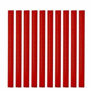 LEMECIMA 5 / 10PCS / Lot Crayons De Charpentier Plomb Noir Pour Les Constructeurs De Constructeurs De Bricolage Menuiserie Bois Noir 10 Pcs