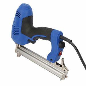 Nail Gun Woodworking Electri Nailer EU Plug 220V Portable Nailer Kit avec clé hexagonale pour la décoration de la maison bricolage