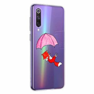 Oihxse Compatible pour Silicone XiaomiMi10Pro 5G Coque Crystal Transparente TPU Ultra Fine Souple Housse avec Motif [Elephant Lapin] Anti-Rayures Protection Etui(B6)