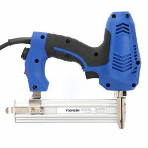 Pistolet à ongles électrique, prise UE 220V pistolet à ongles droit électrique cloueuses droites Pistolet d'agrafage à bois pour la fixation de fixation plaque de fer en béton de bois