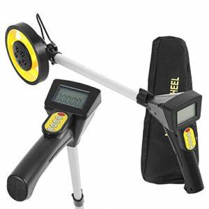 Roue de mesure des distances, pliable de mesure de distance de roue, écran numérique, jaune