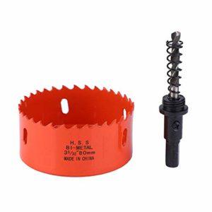 Scie trépan et foret à noyau, trépan de coupe pour coupe-scie(80mm)