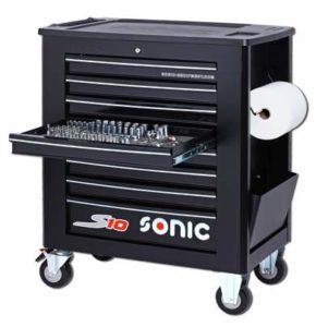Sonic Equipment S10 Servante d'atelier remplie 391 pièces Noir