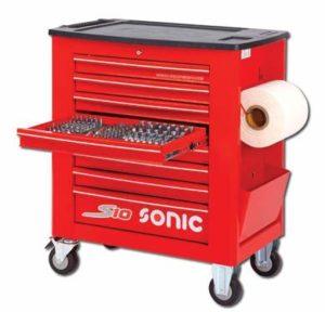 Sonic Equipment S10 Servante d'atelier remplie 391 pièces Rouge