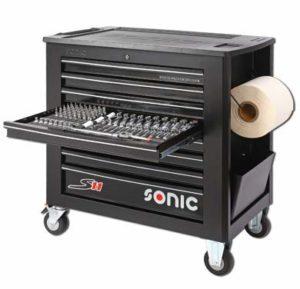 Sonic Equipment S11 Servante d'atelier remplie 644 pièces Noir