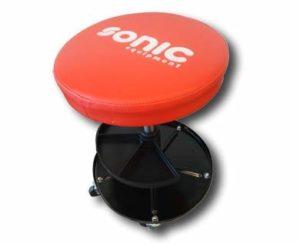 Sonic Equipment Tabouret d'atelier 5 roues réglable en hauteur