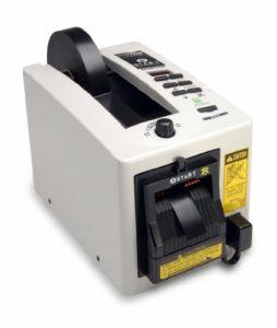 START International ZCM2200-2EU Distributeur Électrique de Ruban avec Tête de Coupe avec Dispositif de Protection et Trois Longueurs de Ruban Programmables, Largeur Maximale de Ruban 51 mm, Blanc