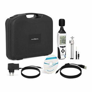 Steinberg Systems Sonomètre Appareil Mesure Bruit Décibelmètre Professionnel SBS-SM-130C (30 À 130 dB, ±1,4 dB, 31,5 À 8 kHz, LCD, Port USB)