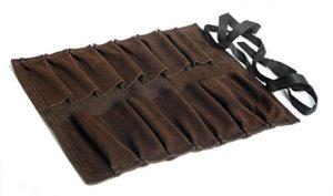 Toolzone Trousse à outils enroulable en cuir 14 poches