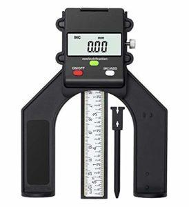 TRZ Jauge de profondeur numérique avec pieds magnétiques, jauge de profondeur 0-80 mm, parfait pour le travail du bois et la construction de machines.