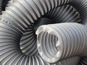 Tuyau d'aspiration PUR 531 AS avec armature en acier – Tuyau flexible pour installations d'aspiration – 40à200mm – TIMBERDUC® – Norres