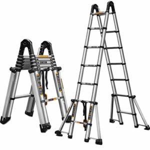 YaGFeng Echelle De Châssis Extensible Étape D'extension De L'échelle D'extension Portable en Aluminium Compact Escaliers Grenier (Color : A, Size : 4.1M)