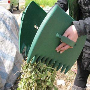 1 paire de pelles à main pour jardin, pince à grandes feuilles avec pinces à feuilles pour un ramassage facile, râteaux à main pour les déchets de feuilles de jardin recueillir les boutures de pelouse