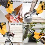 12V / 21V Lithium SCIE ALTERNATIVE, électrique rechargeable scie sauteuse Mini Logging Scie Scie Accueil Chainsaw avec 4 lames Kit,12v,1pcs battery