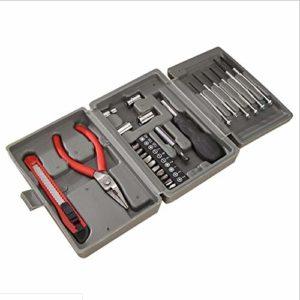 AUKBEC Prix spécial pour Un Ensemble d'outils 24pc, Une boîte à Outils Multifonctions pour Le ménage, Une boîte à Outils pour Combinaisons de Cadeaux, Une boîte à Outils