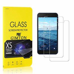 GIMTON Verre Trempé pour Galaxy A2 Core, Ultra Mince Protection en Verre Trempé Écran pour Samsung Galaxy A2 Core, Dureté 9H, Haute Transparent, 2 Pièces