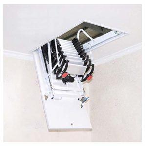 Grenier électrique tirer vers le bas échelle intérieure invisible pliante escaliers loft plafond échelle 2M-4M personnalisé (Highly custom,Trou 80cm*140cm)