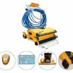 JINGBO Robot de Piscine Électrique, Fond Seul et Fond/Ligne d'eau, revêtements Liner/Polyester/Béton,A