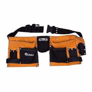Kosma 11 poches en cuir pour menuisier, électricien | Ceinture d'outils | Organisateur d'outils | Ceinture de travail à dégagement rapide