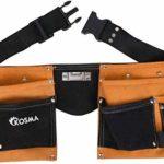 Kosma 11 poches en cuir pour menuisier, électricien   Ceinture d'outils   Organisateur d'outils   Ceinture de travail à dégagement rapide