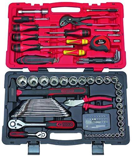 KS Tools 922.0701 – Coffret de douilles et accessoires 1/4″ + 1/2» – Gamme ULTIMATE® – Finition chromée satinée – 101 pièces