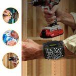 KUSONKEY Bracelet Magnétique de Bricolage, Bracelet Homme avec 15 Aimants Super Puissants pour Vis/Clous/Boulons/Petites Pièces Métalliques, Cadeau pour Papa/DIY Handyman/Anniversaire/Fête des Pères