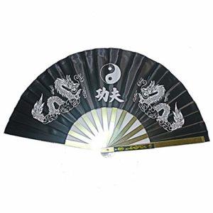Loriver Chinois Kung Fu Arts Martiaux Wushu Tai Chi Dragon Cadre En Acier Inoxydable Ventilateur xcz