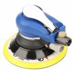Machine à polir, 5 po/6 po Ponceuse ronde Aspirateur Machine de polissage pneumatique + Tuyau à vide + Sac de rangement Ponceuse à outils pneumatiques Aspirateur Machine de polissage pneumatique(5″)
