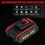 MIYA Perceuse-Visseuse sans Fil,Visseuse Devisseuse,2 Batteries – 36 Nm – 20 Accessoires – Livrée en Boite À Outil, 48V