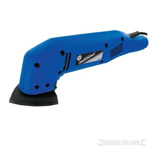 Ponceuse 180 W avec dispositif d'extraction de poussière Utilise des abrasifs auto-agrippants. Dimensions : 90 x 90 x 90 mm. Vitesse à vide : 10 000 tr/min. Longueur du câble : 1,6 m.