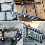 Règle de mesure multi-angle universelle en alliage d'aluminium