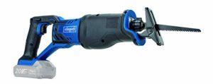 SCHEPPACH CRS450-20 Scie sabre sans outils 20 V Profondeur de coupe 100 mm, bleu