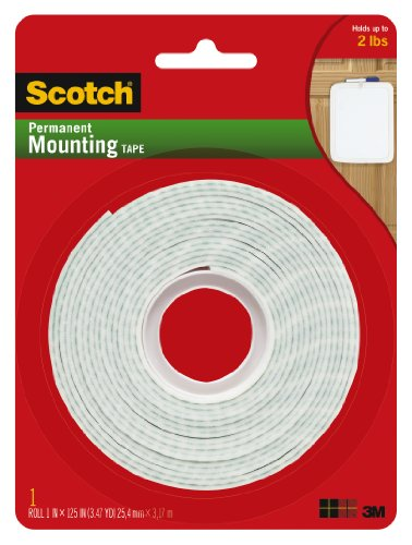 Scotch Ruban de montage permanent, 1cm x 125cm
