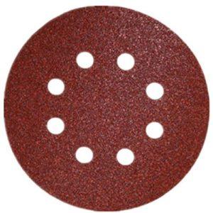 SHINA 50pcs 5″ 125mm 8 trous disques abrasif auto-agrippant Ponceuse Polisseuse Girafe 125mm papier grain mixte 80# 120# 180# 240# 320#