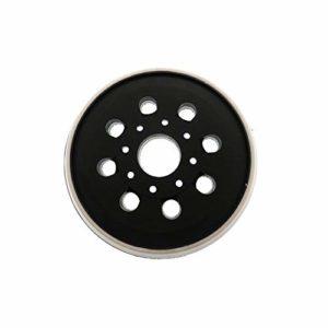 Sourcingmap Patin de ponçage en éponge souple pour ponçage de surface irrégulière 125 mm, 8 Holes, 1