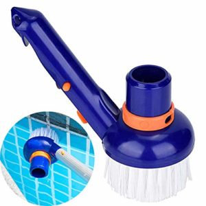 SYXZ Accessoires de Nettoyage Petite Brosse à tête d'aspiration pour Piscine aspirateur brosses Machine à Vide,Bleu