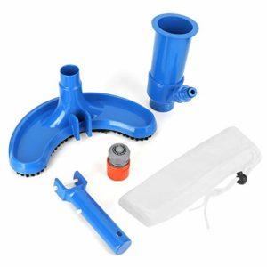 SYXZ Ensemble d'outils de Nettoyage de nettoyant pour kit de Nettoyage de Brosse à Vide pour Piscine,Bleu