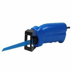 SZMYLED Adaptateur pour scie sabre avec 3 lames pour perceuse électrique sans fil, bleu, UN