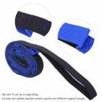 T best Corde de Ceinture Extensible de 2 m, Sangle Extensible de Yoga Augmentant la flexibilité des Bandes de Formation des Jambes pour l'exercice(Bleu + Noir)