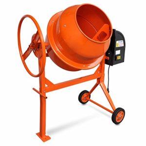 Tidyard Bétonnière électrique | Bétonnière Portable en Acier 140 L 650 W Orange