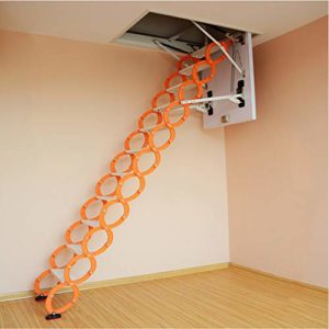 WeeLion Échelle de rallonge Invisible pour la Maison Portable en Alliage d'aluminium-magnésium, échelle intégrée Murale – échelle de repliage intérieure pour Villa/loft/sous-Sol/entrepôt,80 * 120cm