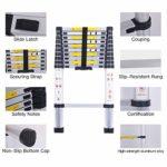 3.2M Échelle Télescopique Polyvalente en Aluminium, Pliable, Portative, Conforme aux Normes CE et EN131