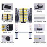 3.8M Échelle télescopique polyvalente en aluminium, pliable, portative, conforme aux normes CE et EN131