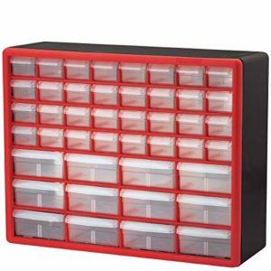 Akro-Mils 10144D Meuble de rangement pour les loisirs créatifs, noir 50,8 x 40,6x 5,1cm, 10144REDBLK