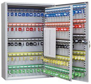 Arregui PL200-Schrank Sicherheit für 60Schlüssel mit Haken verstellbar, grau, L