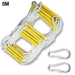 BeneU Échelle de tricotage portable pour les cas d'urgence, échelle d'évasion durable pour les cas d'urgence, échelle en nylon multifonction pour l'escalade à la maison, 5 m/φ