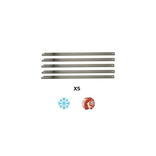 Diamwood Platinum – 5 lames de scie manuelle de boucher à os Pro L. 450 x Ht. 20 x pas 2,5 mm en acier inoxydable – Diamwood Platinum