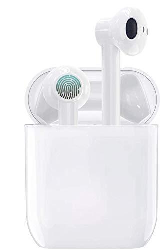 Écouteurs sans Fil Bluetooth 5.0,Casque Bluetooth boîtier de Chargement 24 Heures, Fonction de réduction du Bruit stéréo 3D Haute définition, adapté à Android/iOS/Samsung/Huawei